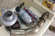 Turbo HX40 + Coletor + Saida Inox