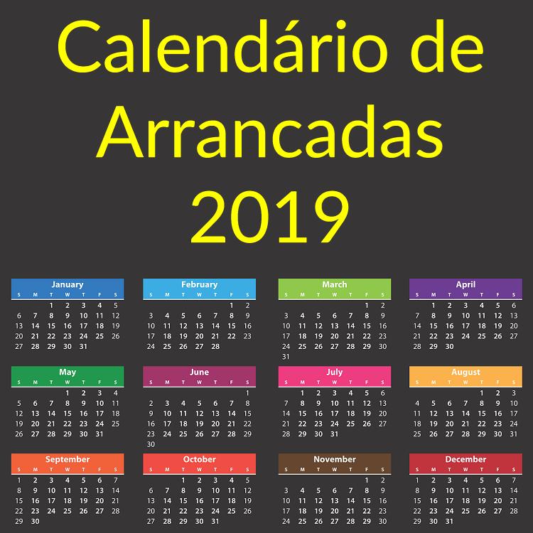Calendário de Arrancadas 2019