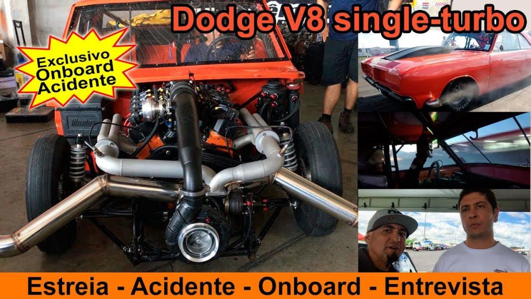 [VÍDEO] Dodge V8 turbo - Foquinha - Acidente nos 201 metros