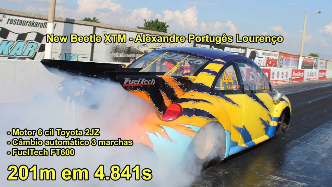 [VÍDEO] New Beetle com motor Toyota 2JZ - Besouro quebrando recordes!